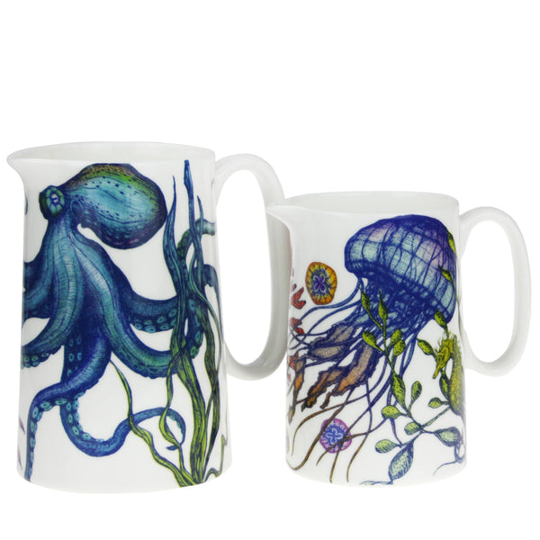 Bone China Reef Jugs -Kitchen & Dining- Cream Cornwall