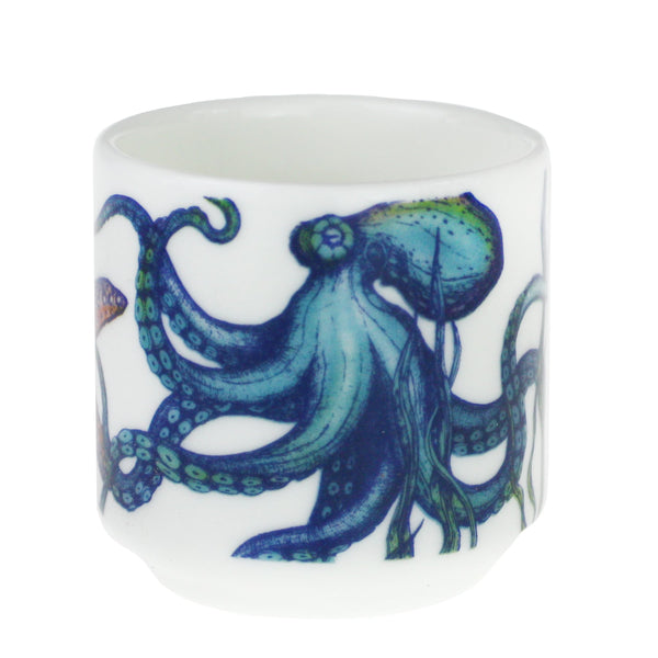 Bone China Reef Egg Cup - Octopus -Kitchen & Dining- Cream Cornwall