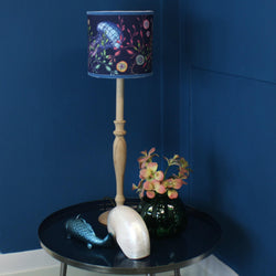 Canyons Reef Navy Shade With Jellyfish Design And Velvet Trim -Homeware- Cream Cornwall