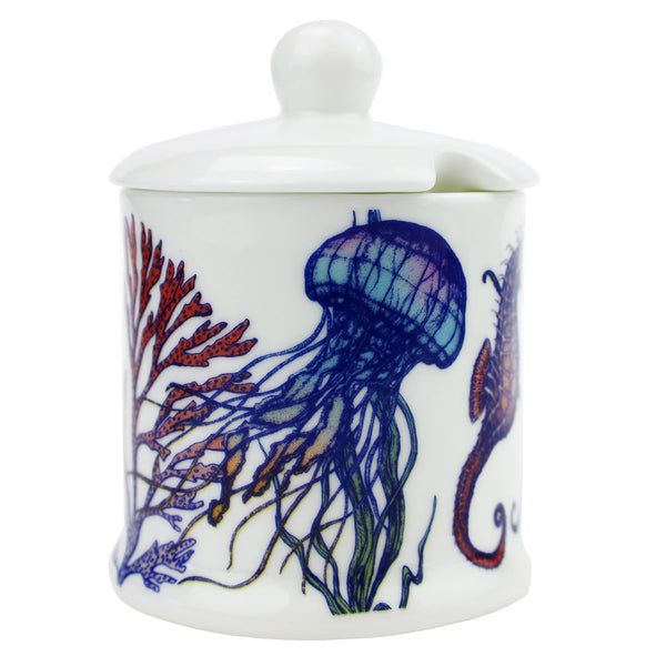 Bone China  Reef Jam Pot -Kitchen & Dining- Cream Cornwall
