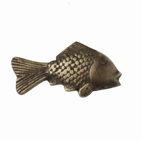 Brass Fish Decorative Handle -Accessories- Cream Cornwall