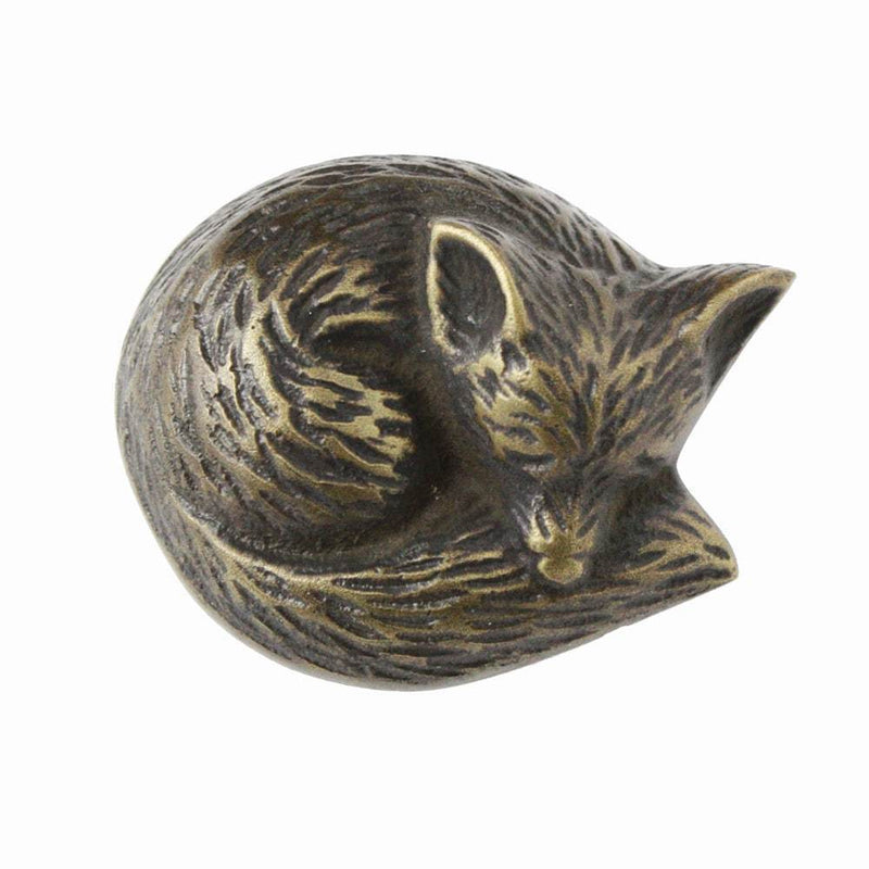 Brass Fox Decorative Handle -Accessories- Cream Cornwall