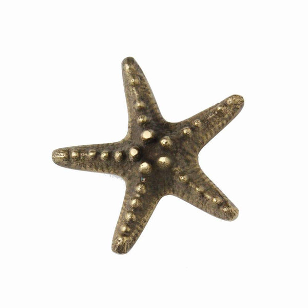 Brass Starfish Decorative Handle - Large -Accessories- Cream Cornwall