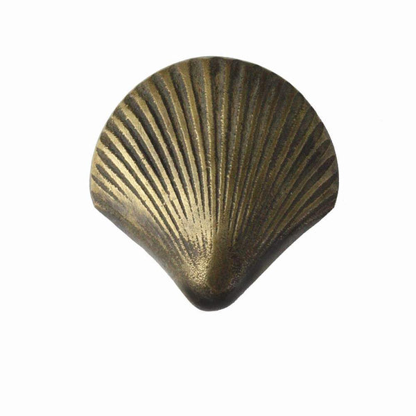 Brass Scallop Shell Decorative Handle -Accessories- Cream Cornwall