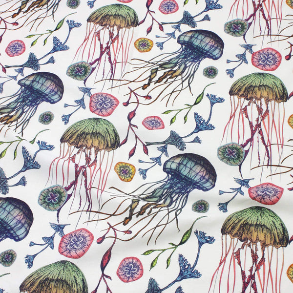 Canyons Reef Organic Linen Fabric -Homeware- Cream Cornwall
