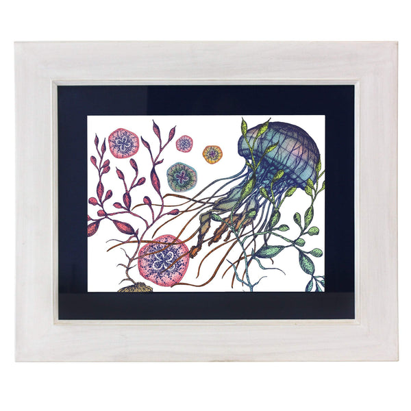 Canyons Reef White Art Print In Three Sizes - A4, A3 And A2 -Accessories- Cream Cornwall