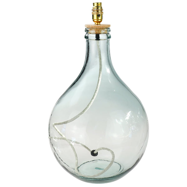 St Mawes Glass Lamp Base - Clear -Homeware- Cream Cornwall