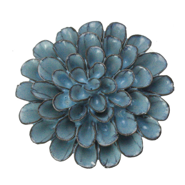 Blue Grey Underwater Flower -Accessories- Cream Cornwall