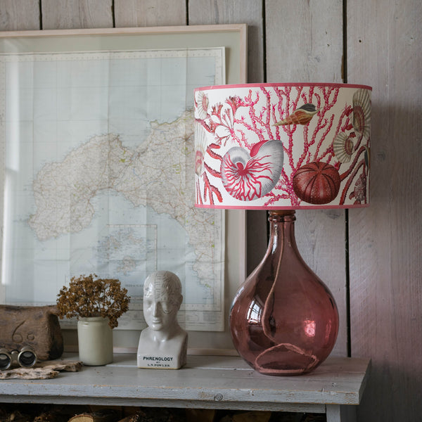 Shellseeker Off White Lampshade -Homeware- Cream Cornwall