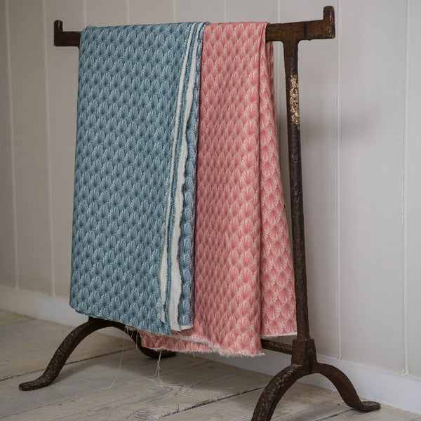 Navron Pink Linen Fabric -Homeware- Cream Cornwall