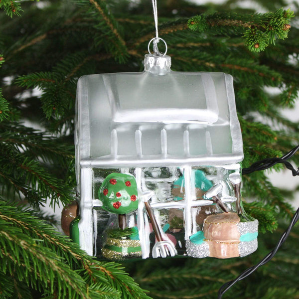 Glass House Christmas Decoration -Accessories- Cream Cornwall