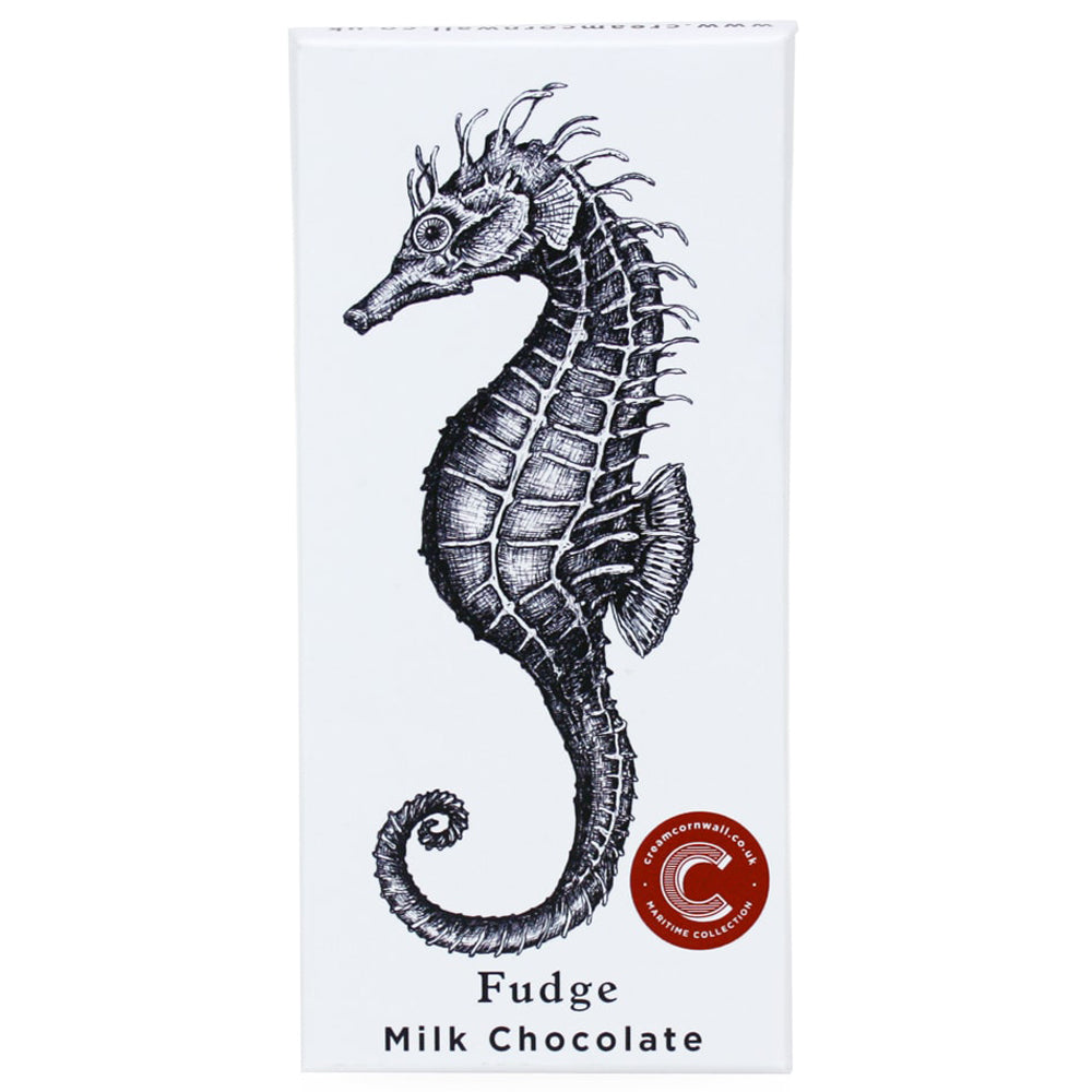 Seahorse Milk Chocolate - Clotted Cream Fudge -Food- Cream Cornwall