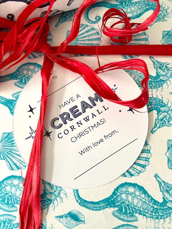 Luxury Gift Tag -Luxury Gift Tag- Cream Cornwall
