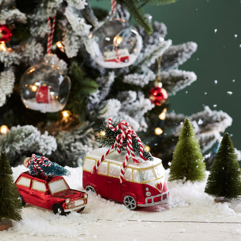 Coming Home For Christmas Camper Van  Decoration -Accessories- Cream Cornwall
