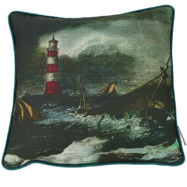 Lighthouse Cushion Cover -Homeware- Cream Cornwall