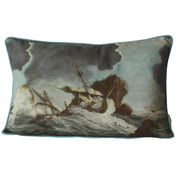 Shipwreck Day Rectangle Cushion Cover -Homeware- Cream Cornwall