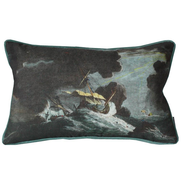Shipwreck Night Rectangle Cushion Cover -Homeware- Cream Cornwall