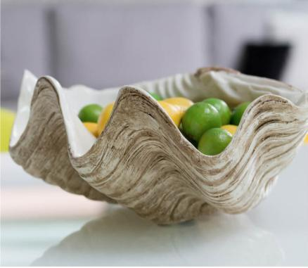 Large Clam Shell -Accessories- Cream Cornwall