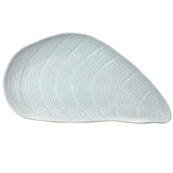 Stoneware Mussel Shell Dish -Kitchen & Dining- Cream Cornwall