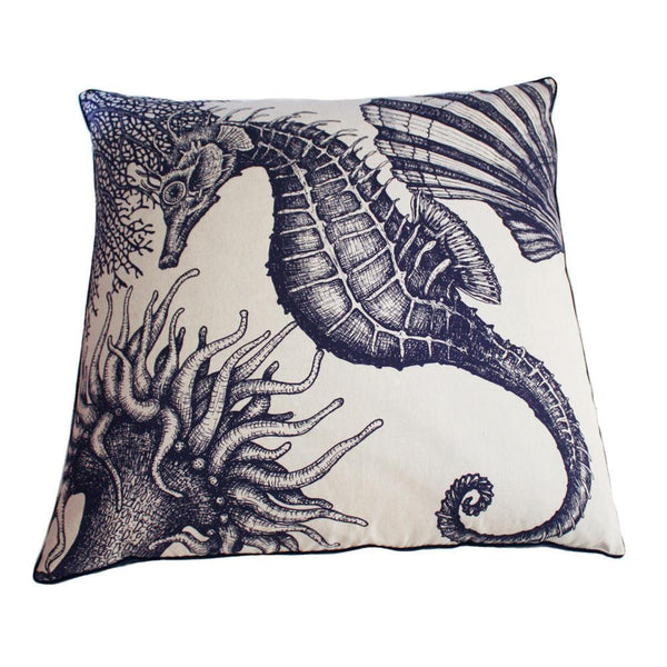 Seahorse Floor Cushion -Homeware- Cream Cornwall