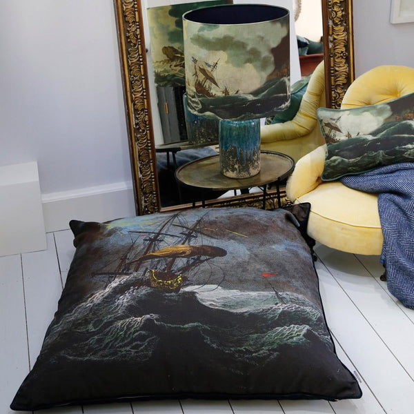 Shipwreck Night  Floor Cushion -Homeware- Cream Cornwall
