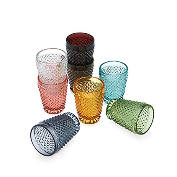 Diamond Cut Glass Tumbler -Kitchen & Dining- Cream Cornwall