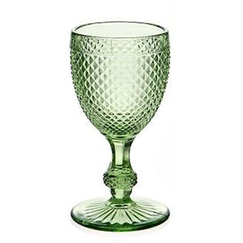 Diamond  Cut Glass Wine Goblet -Kitchen & Dining- Cream Cornwall