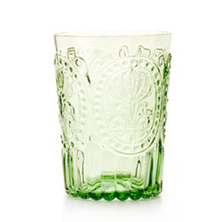 Fleur de Lys Glass Tumbler -Kitchen & Dining- Cream Cornwall