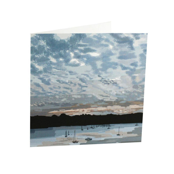 Mackerel Skies Card - cream cornwall