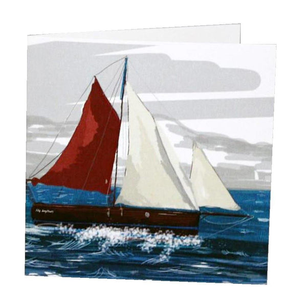 Crabber Card - cream cornwall