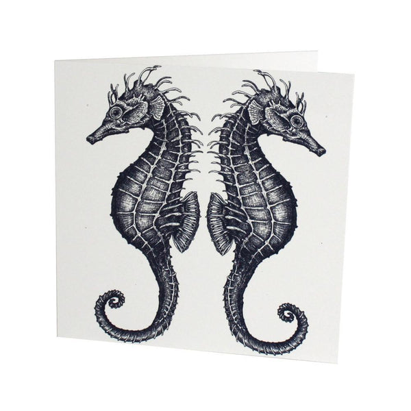 Seahorse Card -Accessories- Cream Cornwall