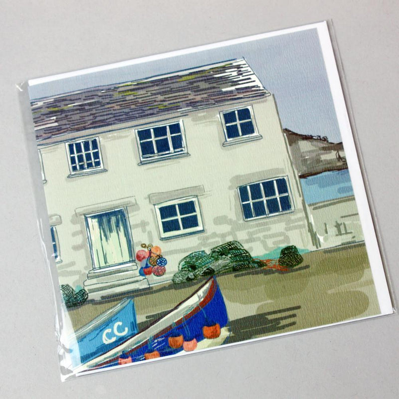 Mullion Cornish Cottage Card -Accessories- Cream Cornwall