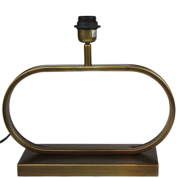 Porth Brass Lamp Base -Homeware- Cream Cornwall