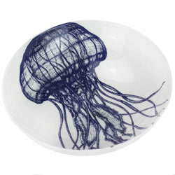 Blue And White Bone China Jellyfish Pasta Bowl -Kitchen & Dining- Cream Cornwall