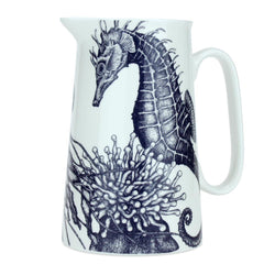 Blue And White Bone China Jugs With Seahorse Design -Kitchen & Dining- Cream Cornwall