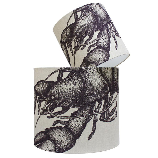 Lobster Lampshade -Homeware- Cream Cornwall