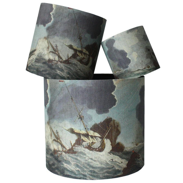 Shipwreck Day  Lampshade -Homeware- Cream Cornwall