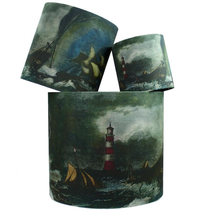 Shipwreck Lighthouse  Lampshade -Homeware- Cream Cornwall