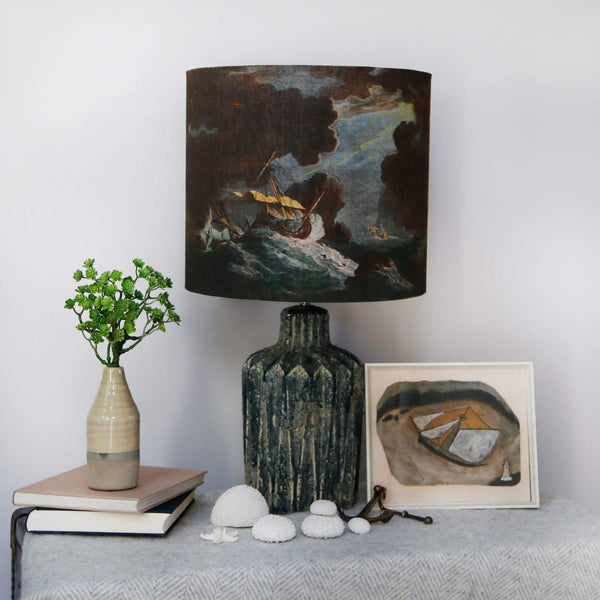 Shipwreck Night Lampshade -Homeware- Cream Cornwall