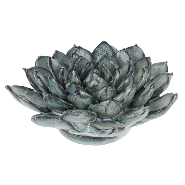 Blue Grey Ceramic Succulent -Accessories- Cream Cornwall