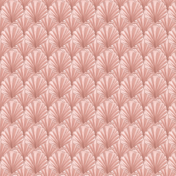 Navron Pink Linen Fabric - Cream Cornwall