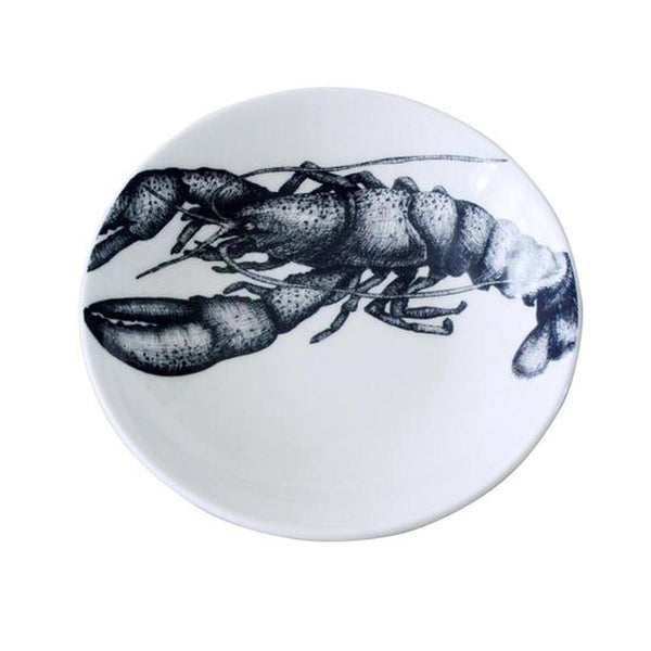 Blue And White Bone China Nibbles Dish With Lobster Design -Kitchen & Dining- Cream Cornwall