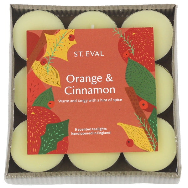 Orange & Cinnamon Scented Christmas Tea lights -Accessories- Cream Cornwall