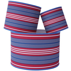 Pendennis Lampshades in Red, White & Blue Stripe -Homeware- Cream Cornwall