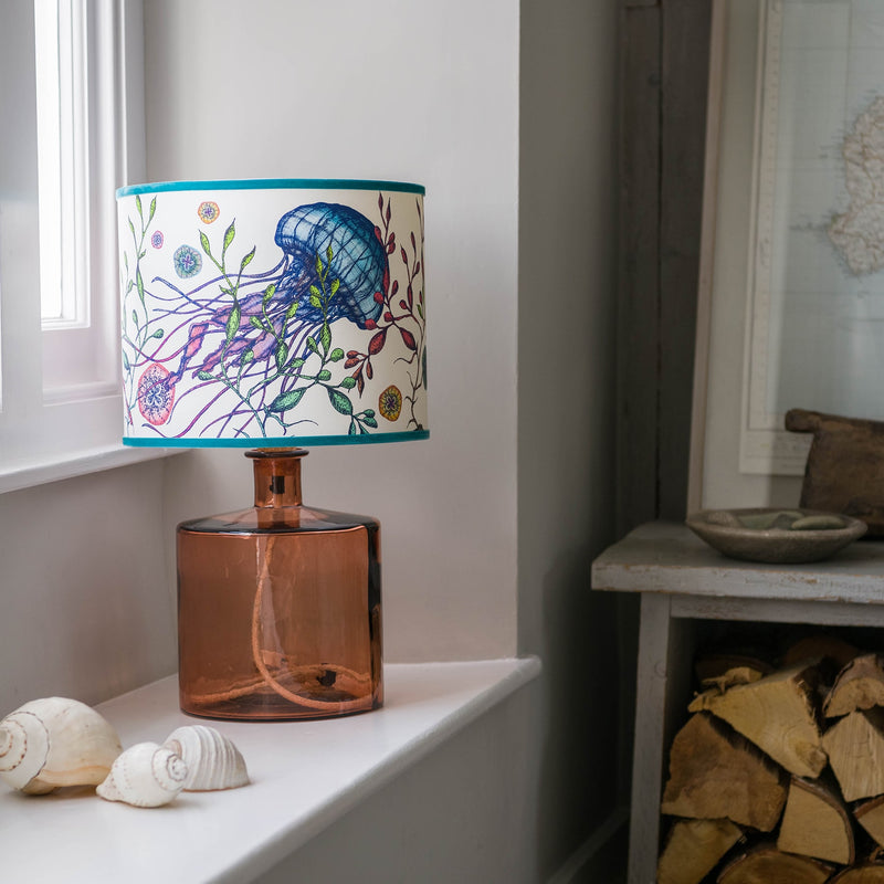 Gillan Recycled Glass Lamp Base in Pale Pink -Homeware- Cream Cornwall