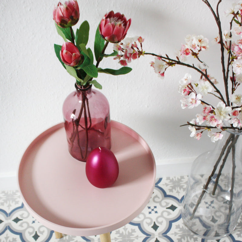 Metallic Egg Candle - Pink -Accessories- Cream Cornwall