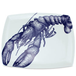 Blue And White Bone China Lobster Platter -Kitchen & Dining- Cream Cornwall
