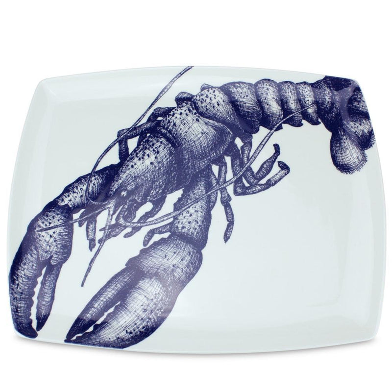 Blue And White Bone China Lobster Platter - cream cornwall