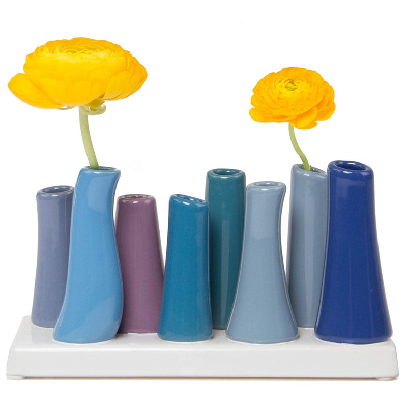 Small Ceramic Tube Vase In Cobalt -Accessories- Cream Cornwall