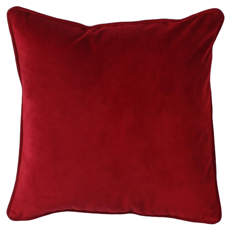 Velvet Cushion Cover- Red -Homeware- Cream Cornwall